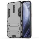 Slim Armour Tough Shockproof Case & Stand for Oppo Reno Z (Grey)